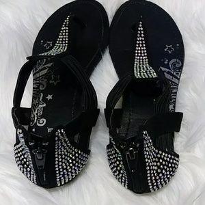 🌟EUC Brash bling sandals